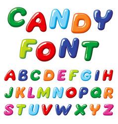 cartoon candy kids font rainbow funny vector image