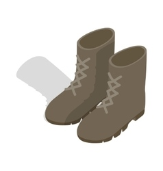 Combat military boots icon isometric 3d style vector image