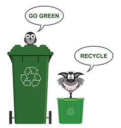Go Green recycle vector image vector image
