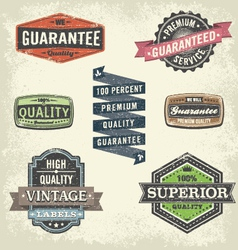 Vintage Signs and Banners and Frames vector image vector image