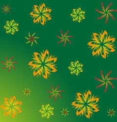 A pattern of maple leaves vector