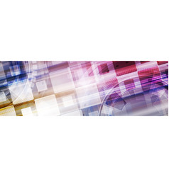 abstract bright tech geometric web header banner vector image