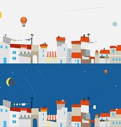 Abstract city map set Ftat design vector image