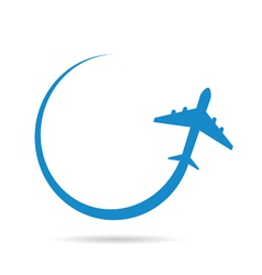 airplane blue vector image
