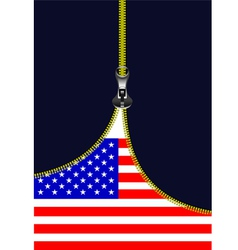 al 0722 zipper american flag vector image