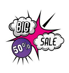 big sale pop art style poster vector image