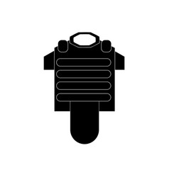 Black icon on white background bulletproof vest vector