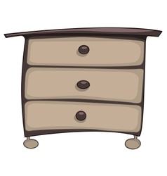 cartoon home furniture chest of drawers vector image