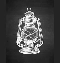 chalk sketch kerosene lamp vector image