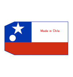 Chile flag on price tag with word vector