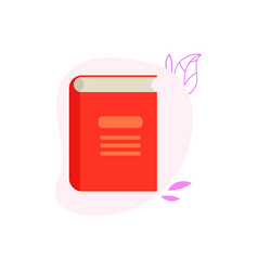 closed paper book or diary with red hardcover vector image