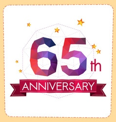 Colorful polygonal anniversary logo 2 065 vector