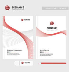 Company brochure with elegent design and also vector