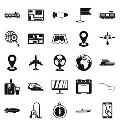 Computer forensics icons set simple style vector