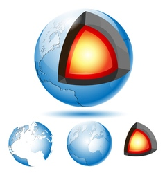 core of the planet Earth vector image