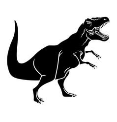 dinosaur silhouette 003 vector image