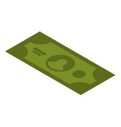 dollar icon isometric style vector image
