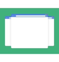 flat blank browser windows vector image