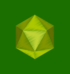 Flat shading style icon virus vector