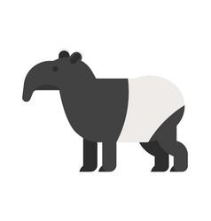 flat style of tapir vector image