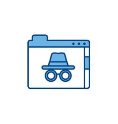 Folder file internet line and fill vector