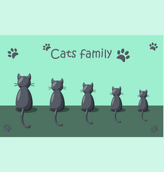 funny cats family vector image