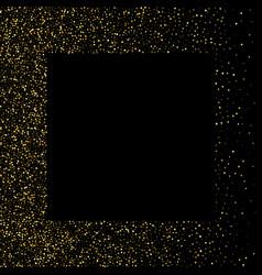 Gold glitter frame golden grainy frame golden vector