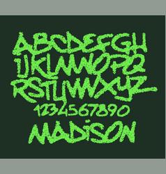 grunge alphabet set for your design vector image