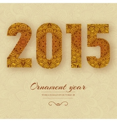 Hand drawn new year 2015 background ornament conce vector