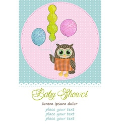 Happy birthday owl vector image