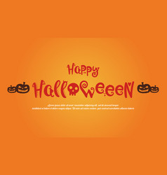 happy halloween greeting card style vector image