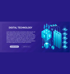 hosting service big data center cryptocurrency vector image