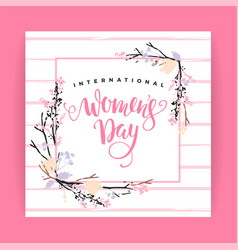 international women s day template vector image