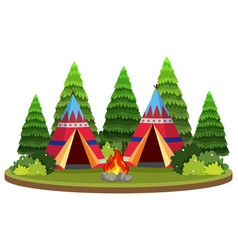 Isolated teepee in nature vector