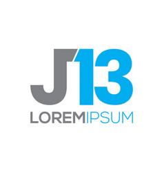 J13 typography logo design vector