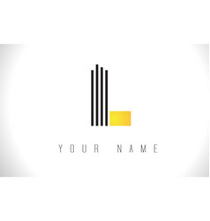 L black lines letter logo creative line letters vector