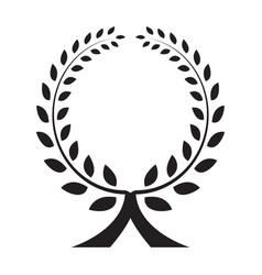 laurel wreath icon isolated vector image