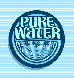 Logo for pure water vector