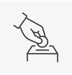 money donation line icon vector image