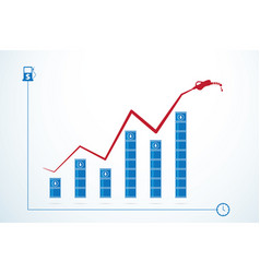 oil barrels and price growth graph vector image