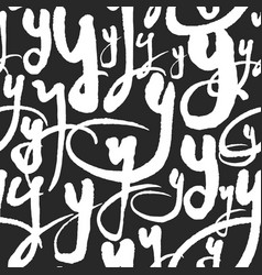 Pattern with calligraphy letters y vector