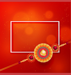 Rakhi design background with text space vector