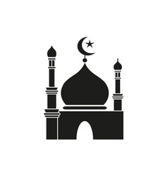 ramadan kareem black icon vector image