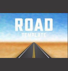 Road in perspective highway landscape template vector
