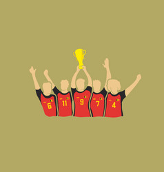 soccer cup winners vector image