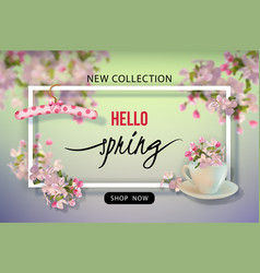 spring advertising banner vector image