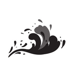 Stormy wave isolated icon vector