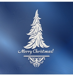 Stylized Christmas tree vector image