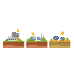 sun solar energy power electricity technology vector image