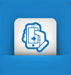 touchscreen sliding icon vector image